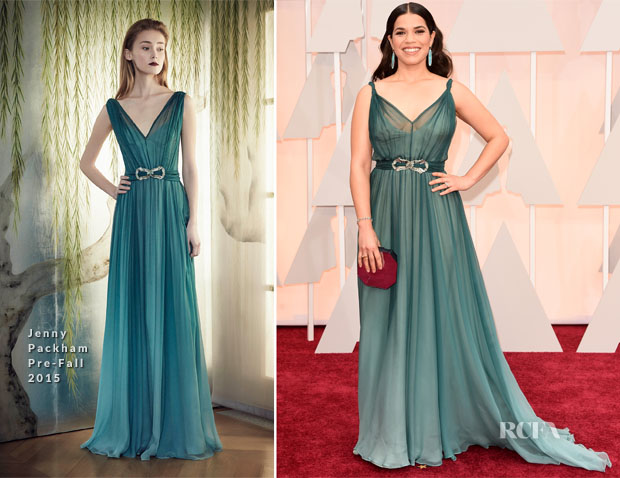 America-Ferrera-In-Jenny-Packham-2015-Oscars