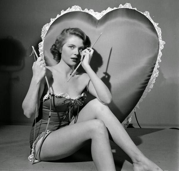 Peggie Castle in a LOOK Magazine Valentine's Day Spread, ca. 1950s (2)
