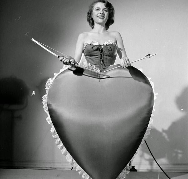 Peggie Castle in a LOOK Magazine Valentine's Day Spread, ca. 1950s (3)