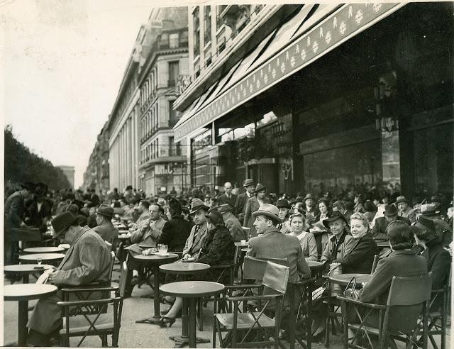 Paris on the Champs Elysees, 1939
