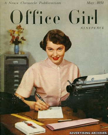 1953-vintage-girl-working-at-a-desk