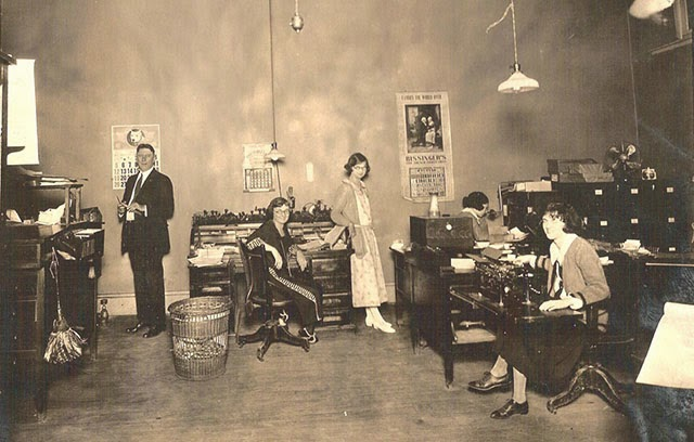 Antique Office Photographs, ca. 1920s (10)
