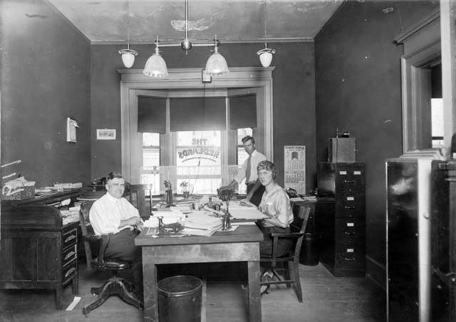 Antique Office Photographs, ca. 1920s (6)
