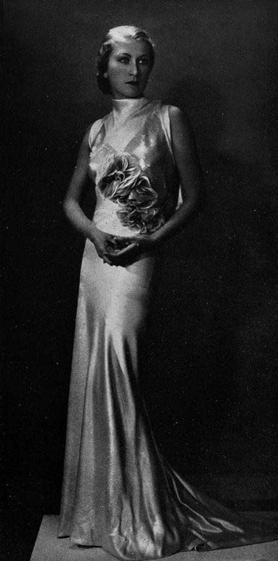 Robe de soiree 1930